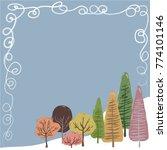 winter frame pastel cute colors.... | Shutterstock .eps vector #774101146