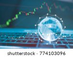 world wide currency trading... | Shutterstock . vector #774103096
