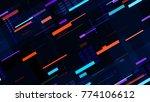 tech seamless texture with neon ...   Shutterstock .eps vector #774106612