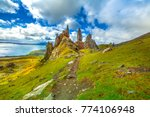 old man of storr  large... | Shutterstock . vector #774106948