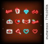 glass  gift  mail  balloon.... | Shutterstock .eps vector #774110506