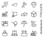 thin line icon set   gift ...   Shutterstock .eps vector #774111376