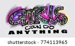hipster funky t shirt  girls... | Shutterstock .eps vector #774113965