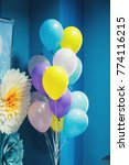 colorful balloons hang before... | Shutterstock . vector #774116215