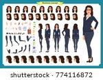 set of businesswoman character... | Shutterstock .eps vector #774116872