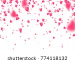 heart confetti background.... | Shutterstock .eps vector #774118132