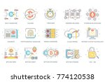 multi cryptographic signature ... | Shutterstock .eps vector #774120538