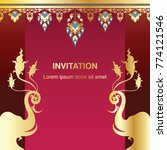 invitation template  background ... | Shutterstock .eps vector #774121546