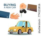 car sharing  rent vector.... | Shutterstock .eps vector #774121816