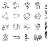 thin line icon set   share ... | Shutterstock .eps vector #774123142