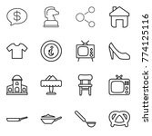 thin line icon set   money... | Shutterstock .eps vector #774125116