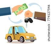 car sharing  rent. dealer... | Shutterstock . vector #774127546