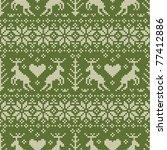 folk style seamless pattern...