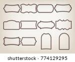 shape of vintage frame set on... | Shutterstock .eps vector #774129295