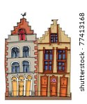 old city facades | Shutterstock .eps vector #77413168