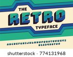 retro bold font 90's  80's ... | Shutterstock .eps vector #774131968