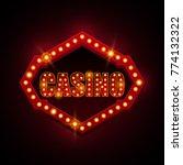 casino signboard with light...   Shutterstock .eps vector #774132322