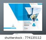 brochure template layout design.... | Shutterstock .eps vector #774135112