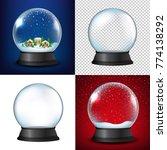 winter snow globe collection  | Shutterstock . vector #774138292
