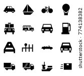 origami style icon set   car...   Shutterstock .eps vector #774138382