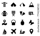 origami style icon set  ... | Shutterstock .eps vector #774138532