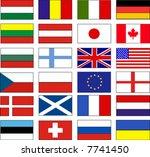 vector flags   Shutterstock .eps vector #7741450