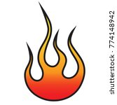 flame vector tribal. flame... | Shutterstock .eps vector #774148942