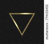 golden magic fire triangular... | Shutterstock .eps vector #774152452