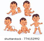 baby characters in different... | Shutterstock .eps vector #774152992