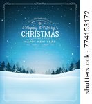 vintage christmas and new year... | Shutterstock .eps vector #774153172