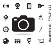 camera icon with shadow. set of ... | Shutterstock .eps vector #774154135