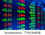 stock market data on led... | Shutterstock . vector #774156838