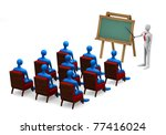 group of students and teacher... | Shutterstock . vector #77416024