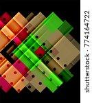 color arrows on black...   Shutterstock .eps vector #774164722