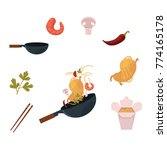 cooking thai  japanese  chinese ... | Shutterstock .eps vector #774165178