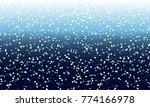falling snow background.... | Shutterstock .eps vector #774166978