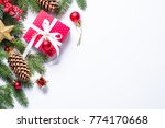 christmas background isolated.... | Shutterstock . vector #774170668