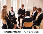 group of teenage students... | Shutterstock . vector #774171358