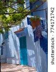 traditional moroccan courtyard... | Shutterstock . vector #774171742