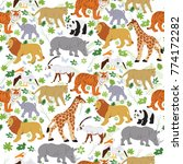 seamless vector pattern with... | Shutterstock .eps vector #774172282