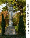 """Small photo of Angel statue at the """"Alter Zwoelf-Apostel-Kirchhof"""" (""""Old Twelve Apostles Cemetery"""") in Berlin-Schoeneberg - The listed cemetary is one of the most important historical graveyards in Berlin"""