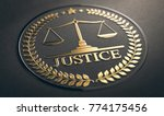 scales of justice embossed... | Shutterstock . vector #774175456