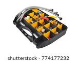 plastic box with pumbing tools  ... | Shutterstock . vector #774177232