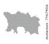 pixel map of jersey. vector... | Shutterstock .eps vector #774179026