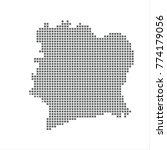 pixel map of ivory coast....