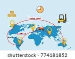 international logistic company... | Shutterstock .eps vector #774181852