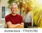 handsome middle age man outdoor ... | Shutterstock . vector #774191782