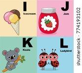 vector illustration of alphabet ... | Shutterstock .eps vector #774193102