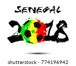 abstract number 2018 and soccer ... | Shutterstock .eps vector #774196942