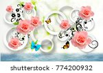 flowers abstraction. photo... | Shutterstock . vector #774200932
